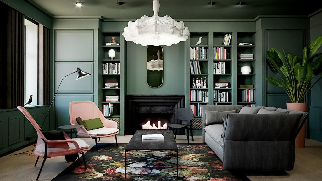 Bibliotek lounge